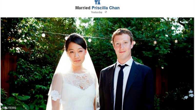 زوكربرغ مؤسس فيسبوك يتزوج أخبار سكاي نيوز عربية