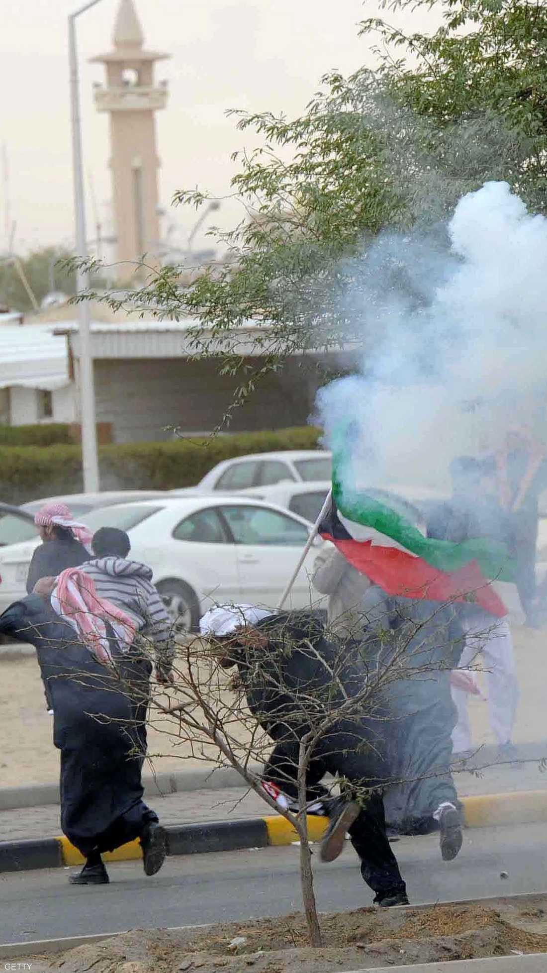 احتجاجات البدون كانت في استقبال عام 2012 بالكويت