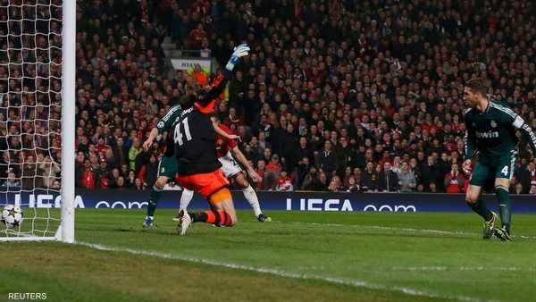 سجل سيرخيو راموس هدف مانشستر يونايتد خطأ في مرماه في الدقيقة 48 من المباراة