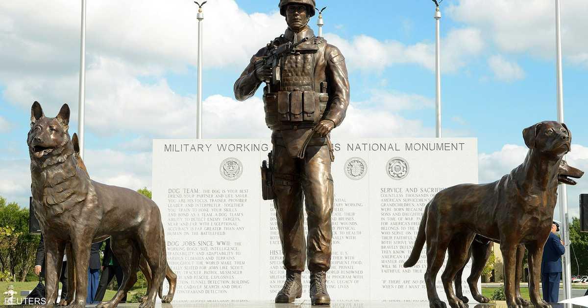الجيش الأميركي يقيم نصبا تذكاريا للكلاب أخبار سكاي نيوز عربية
