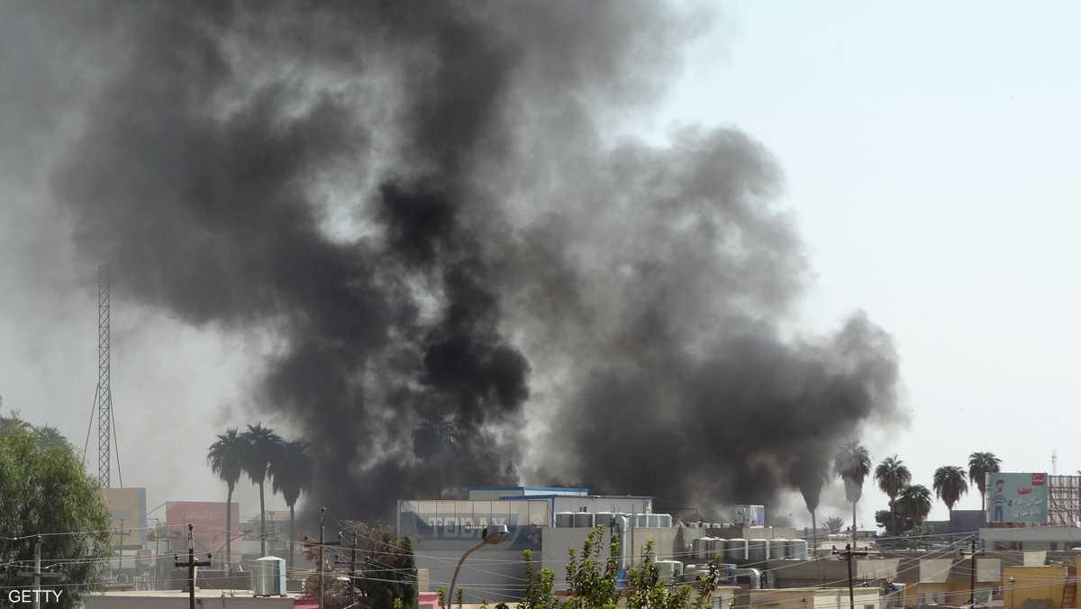 قصف على مجاهدي خلق  قرب مطار بغداد