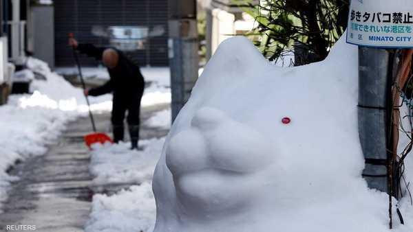 وطني طوكيو.. قتلى بأسوأ عاصفة ثلجية عقود 1-557636.JPG