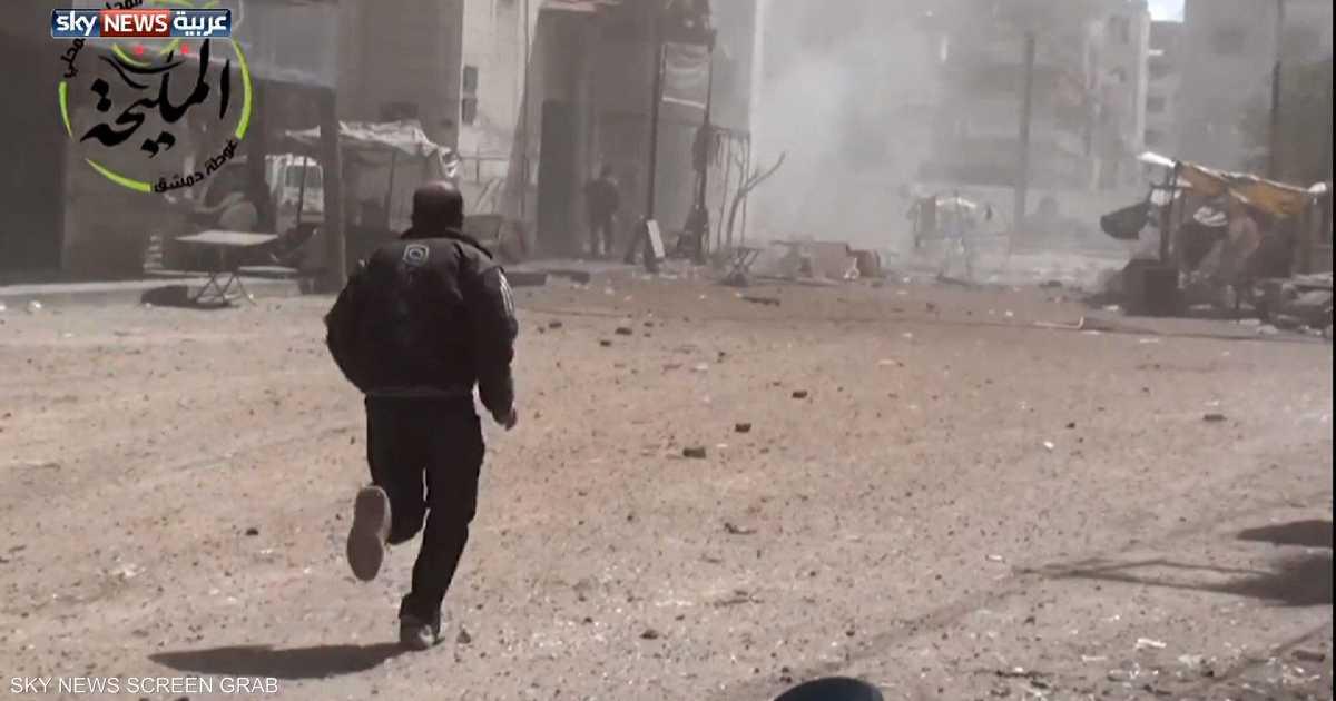قذائف وسط دمشق وحملة عسكرية بالغوطة