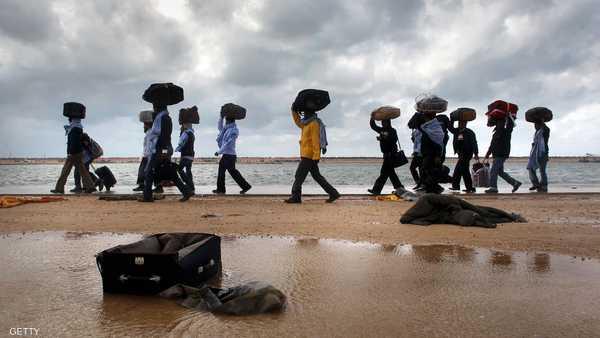 ليبيا ,   غرق مهاجرين ,   مهاجرون ,   سواحل ليبيا ,   مهاجرين أفارقة