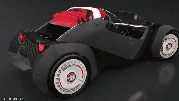اول سيارة بالطباعة الثلاثية الابعاد في ٤٥ ساعة فقط