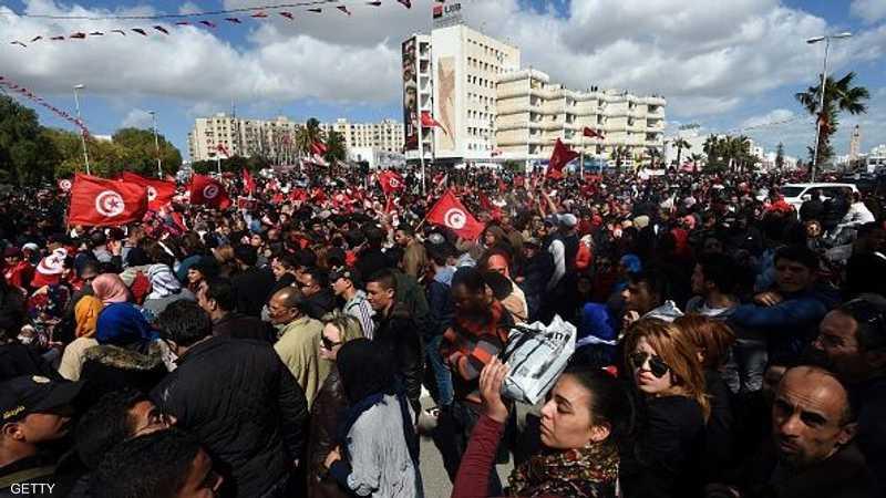 بدأت المسيرة الشعبية من ساحة باب سعدون لتختتم أمام المتحف حيث وقع الاعتداء