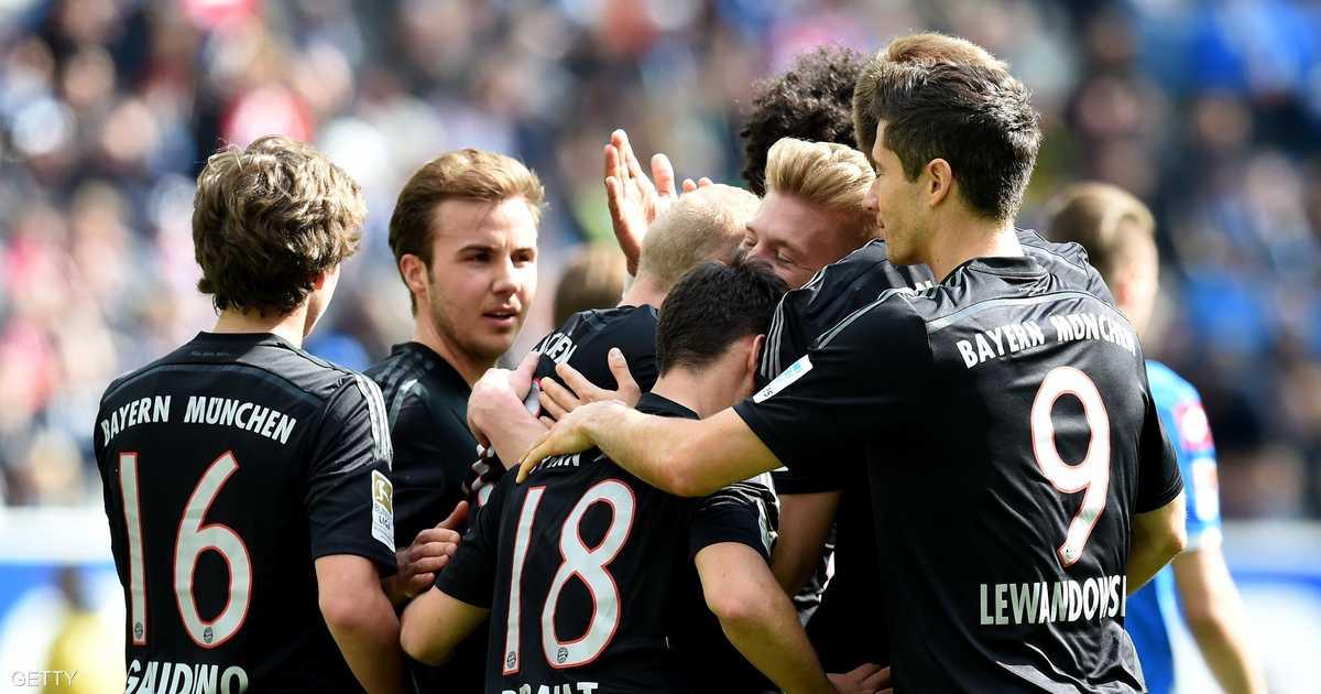 بايرن يقترب من الاحتفاظ بلقب الدوري الألماني