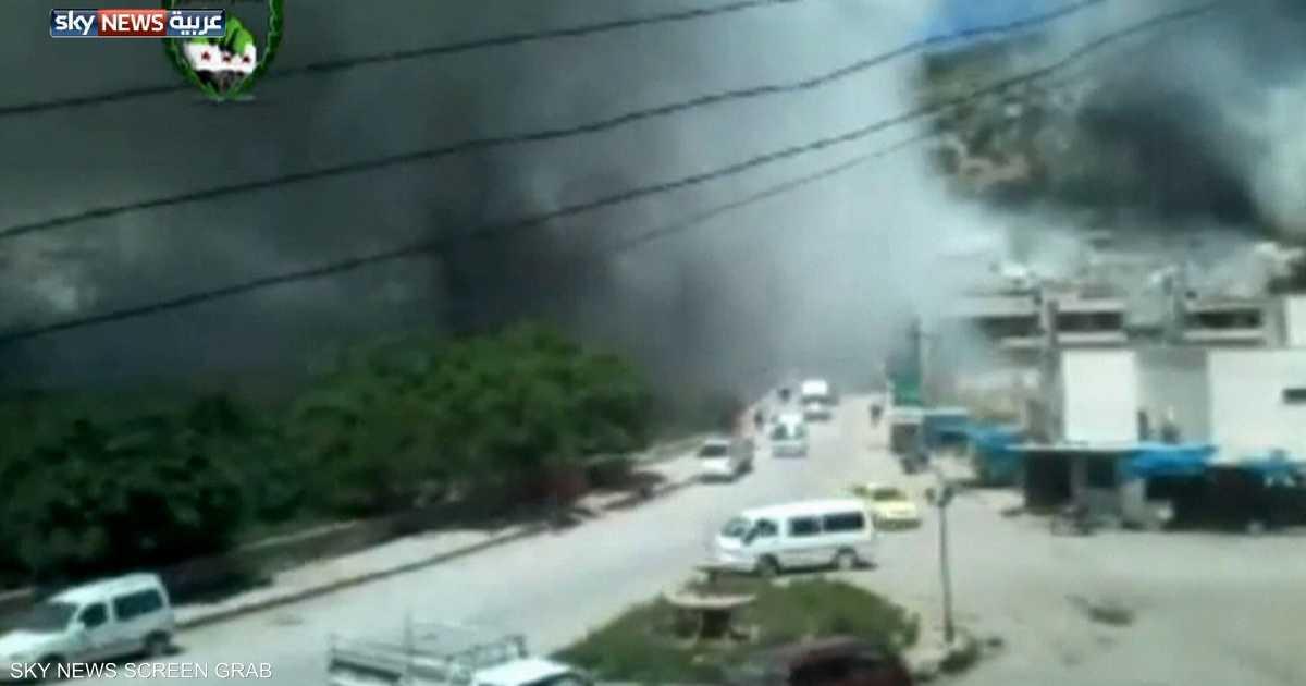 سوريا.. الطيران الحربي يقصف جسر الشغور