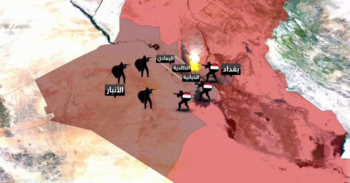 داعش يبدأ هجوما واسعا على الخالدية بالرمادي