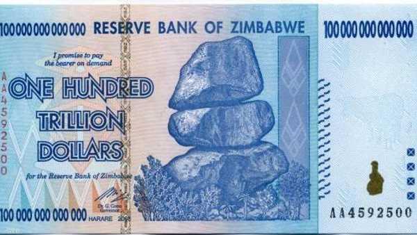 US dollar - 35 million Zimbabwe dollars