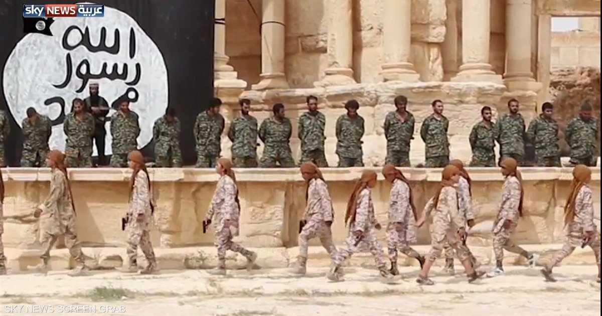 فيديو يظهر قتلا جماعيا نفذه داعش بتدمر