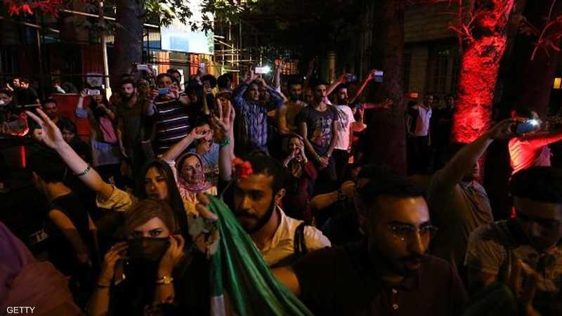 الآلاف تدفقوا إلى الشوارع للاحتفال بإبرام الاتفاق النووي