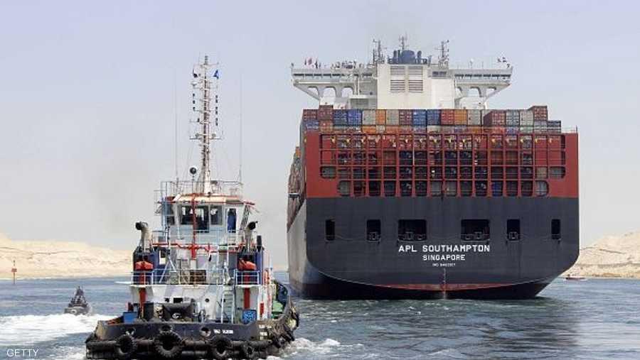 المجرى الملاحي الجديد يتيح مرور السفن في القناة من الاتجاهين
