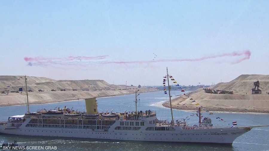 سفينة المحروسة تبحر في القناة الجديدة