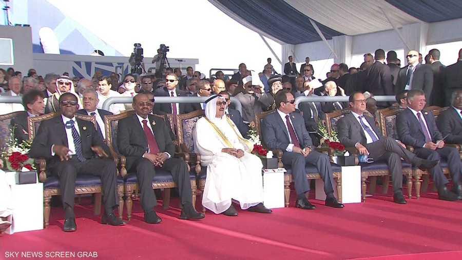 وصول عدد من الزعماء والقادة العرب والأجانب إلى قناة السويس للمشاركة في حفل الافتتاح