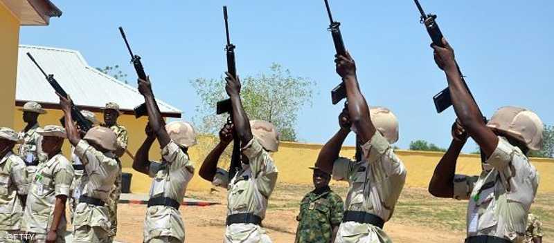 قوات نيجيرية خلال تدريب عسكري لمواجهة بوكو حرام