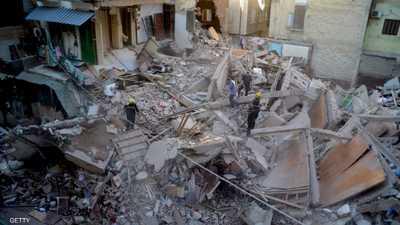 انهيارمبنى في مصر.. وقتلى تحت الأنقاض