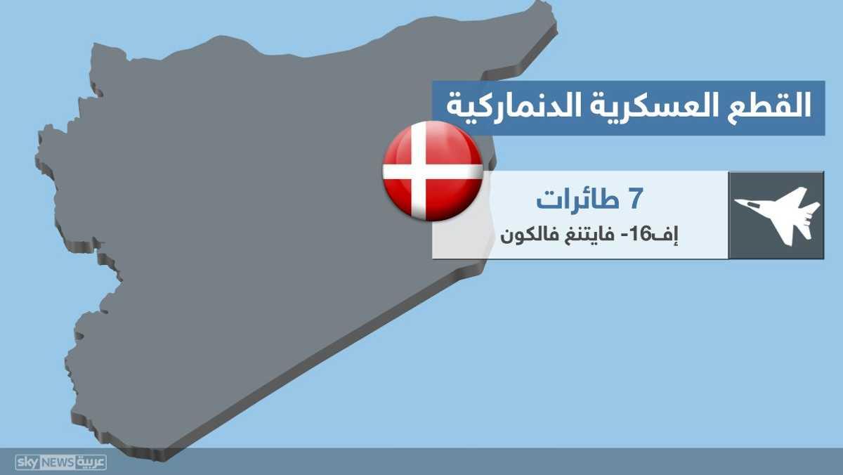 القطع العسكرية الدنماركية في المنطقة