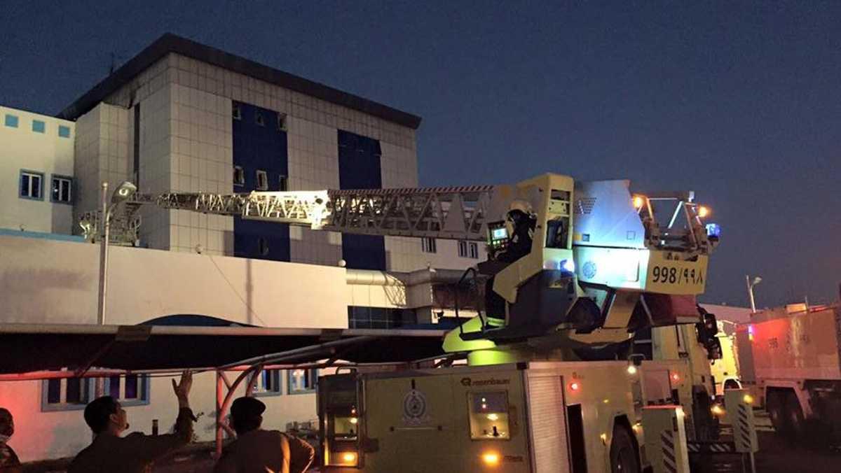 الحريق شب في مستشفى جازان العام في الساعات الأولى من فجر الخميس