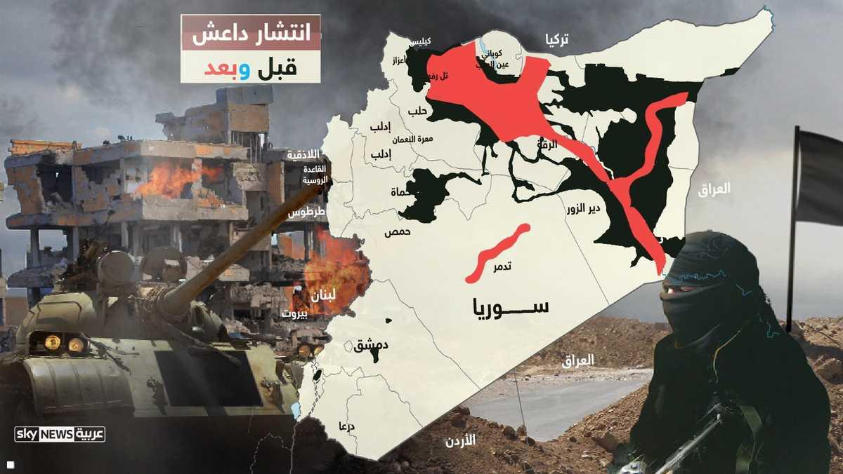 تنظيم داعش قبل وبعد تراجعه
