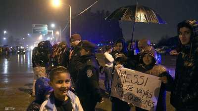 مظاهرات في الأرجنتين من أجل ميسي