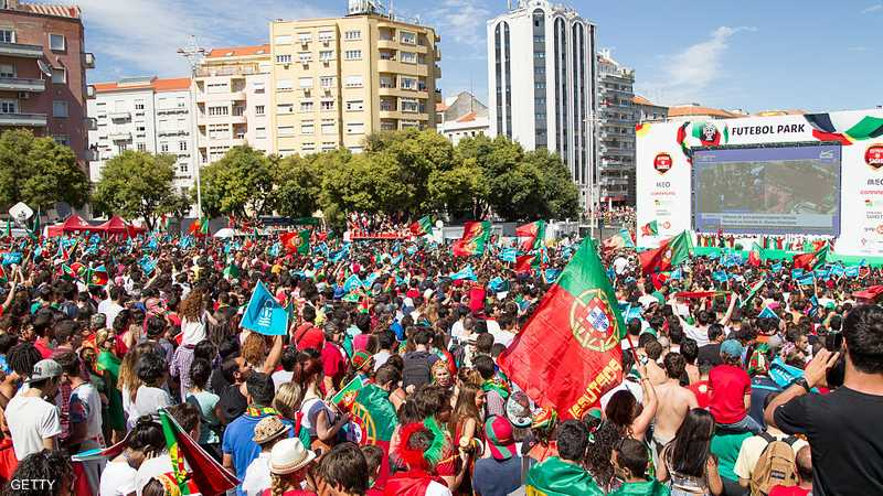 آلاف الجماهير البرتغالية حضرت للاحتفال مع لاعبي المنتخب بلقب اليورو
