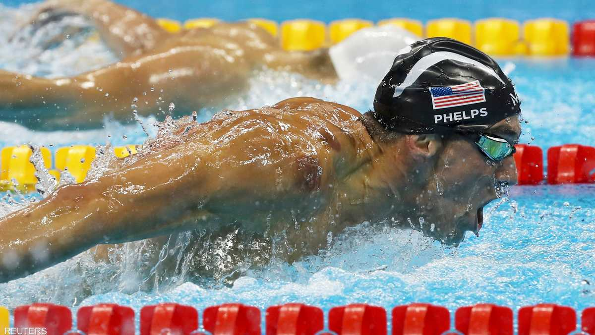 السباح الأميركي مايكل فيلبس يحرز 1-864864.jpg