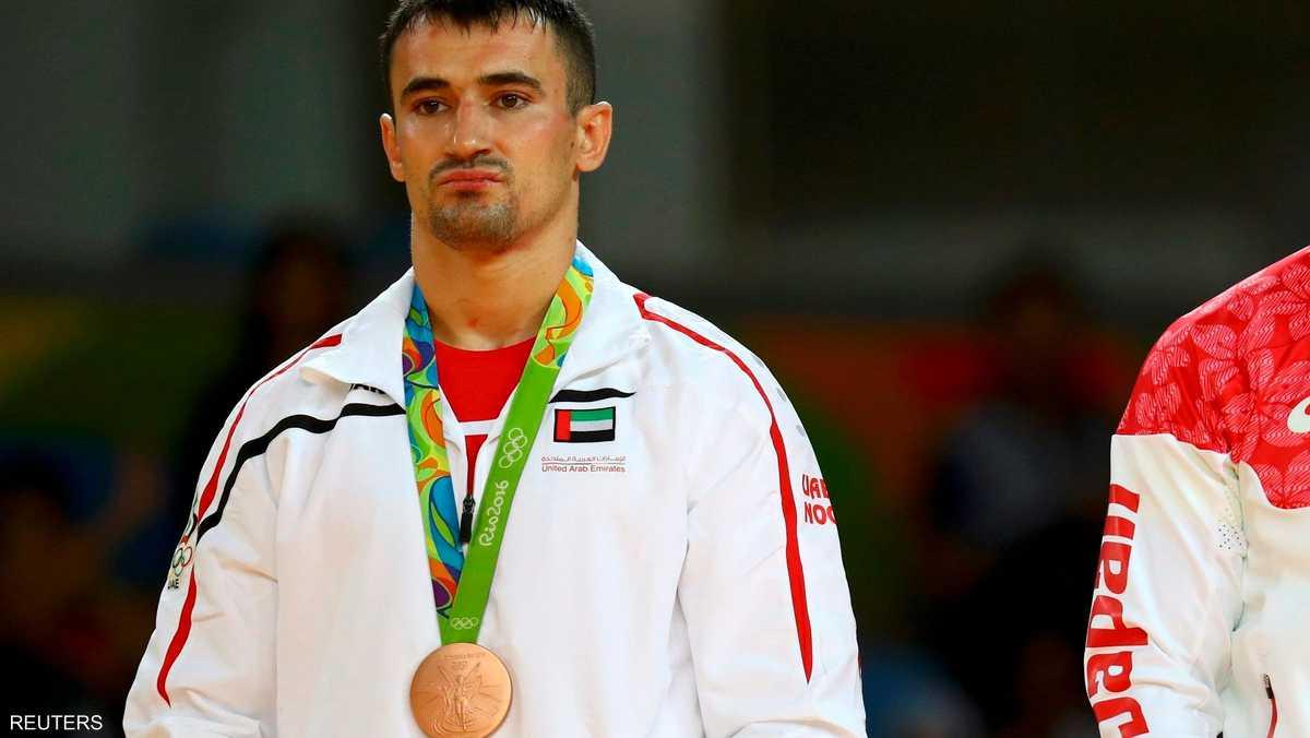 لاعب الجودو الإماراتي توما سيرجيو فاز ببرونزية