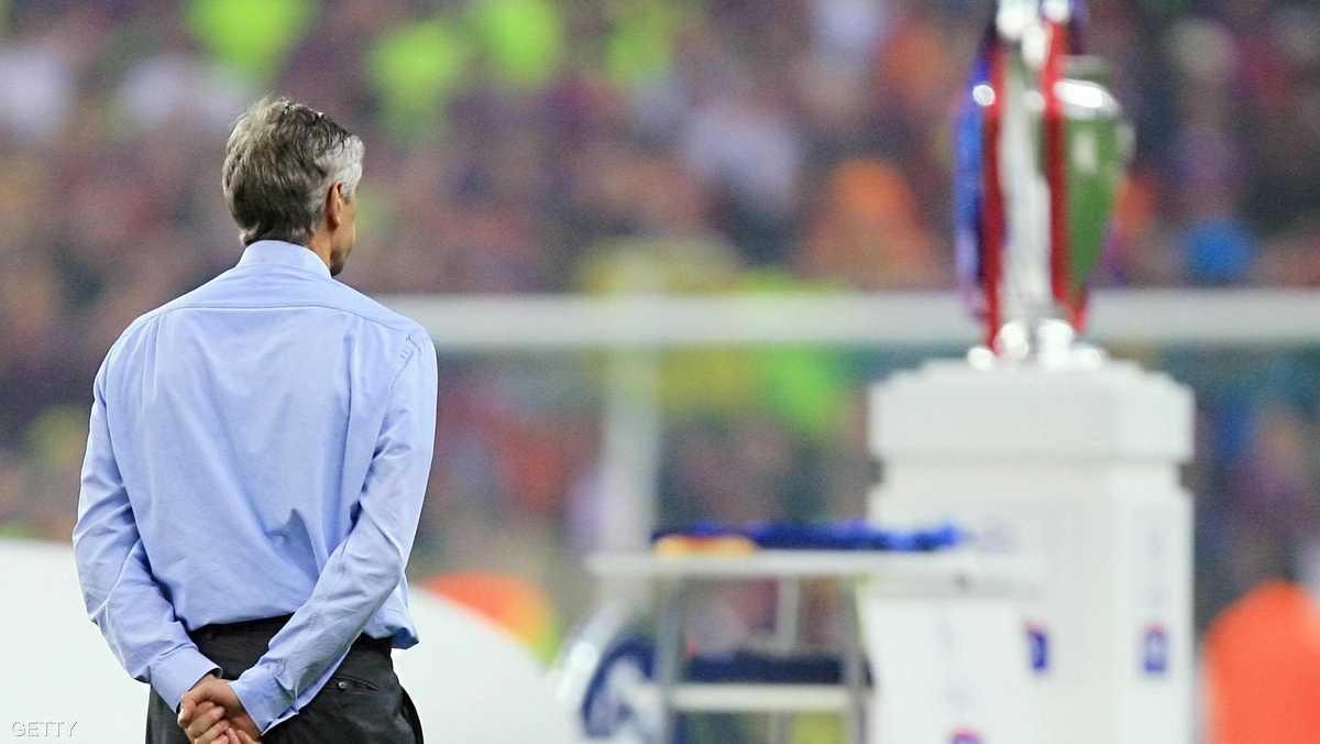 بعدها بعامين كان يتحسر على ضياع لقب دوري أبطال أوروبا بعد الخسارة في النهائي أمام برشلونة
