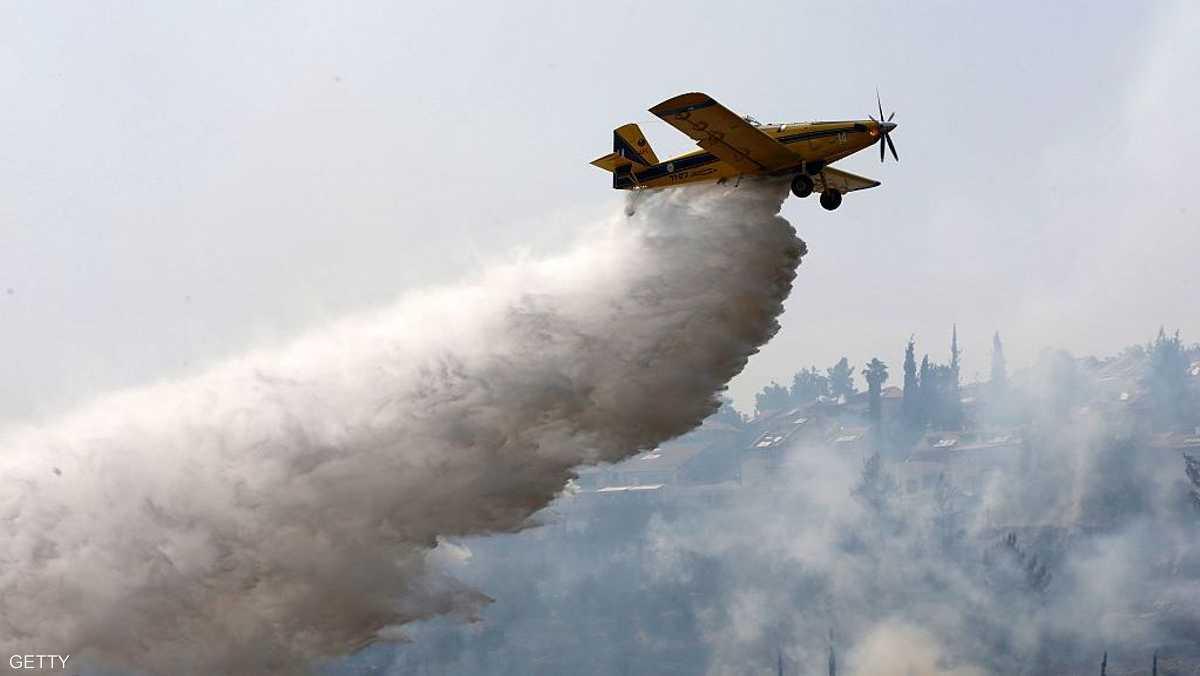 """تركيا ترسل طائرة إطفاء لإخماد """"حرائق إسرائيل"""" 1-895316"""