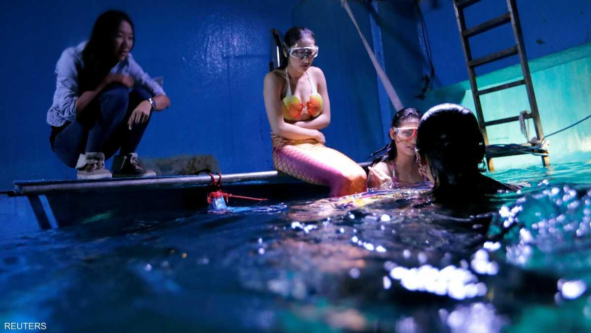 دورات تدريبية مكثفة على الغطس والسباحة