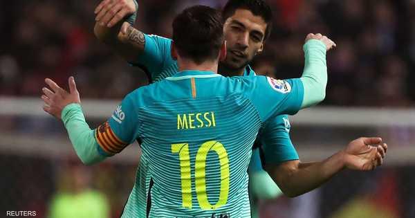 سواريز وميسي يمنحان برشلونة التفوق على أتليتيكو   أخبار سكاي نيوز عربية