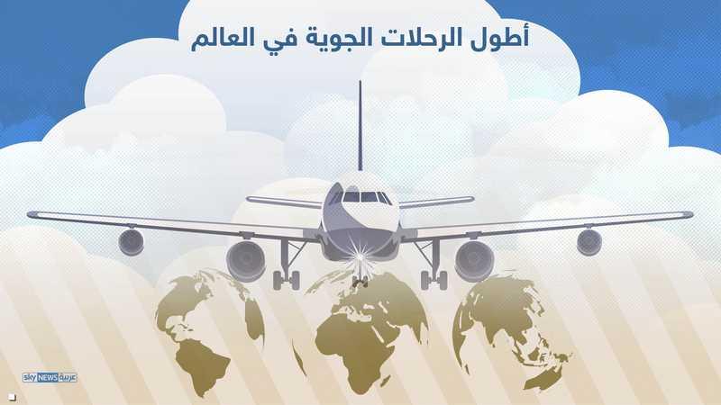أطول الرحلات الجوية حسب المسافة