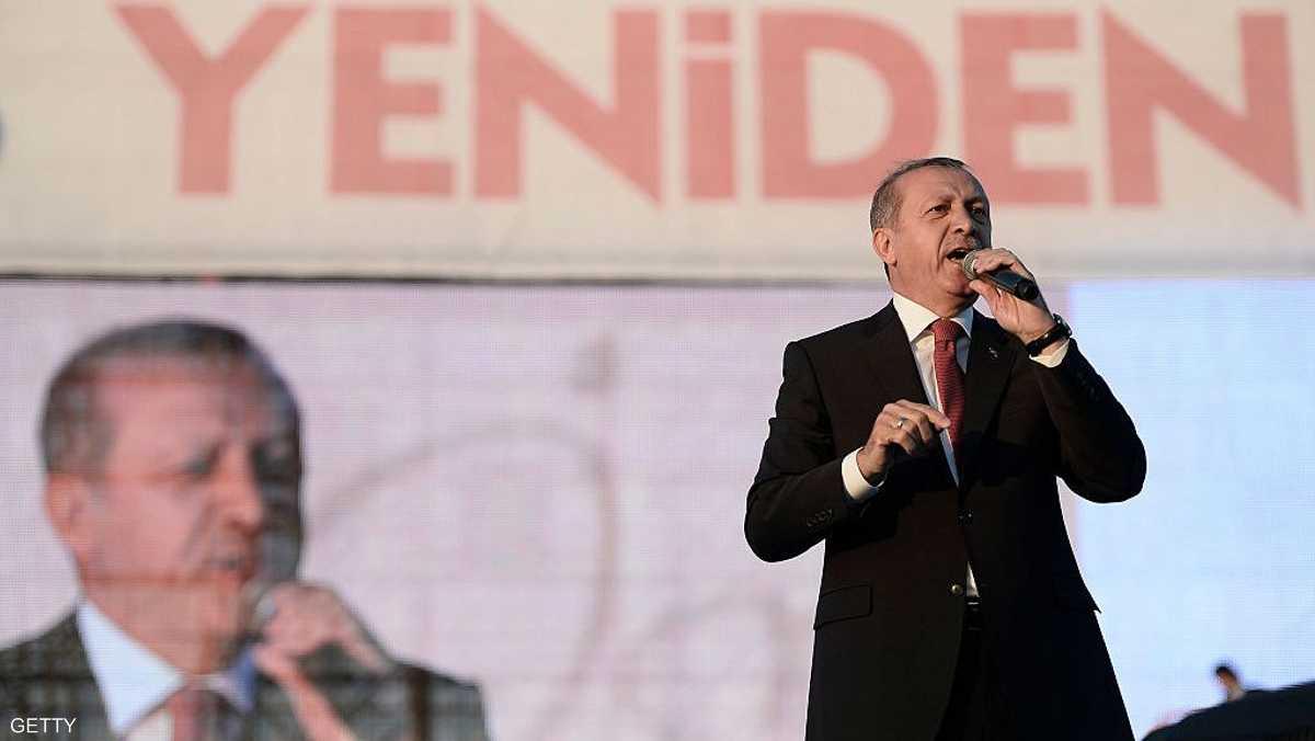 الرئيس التركي رجب طيب أردوغان بلقطة أرشيفية