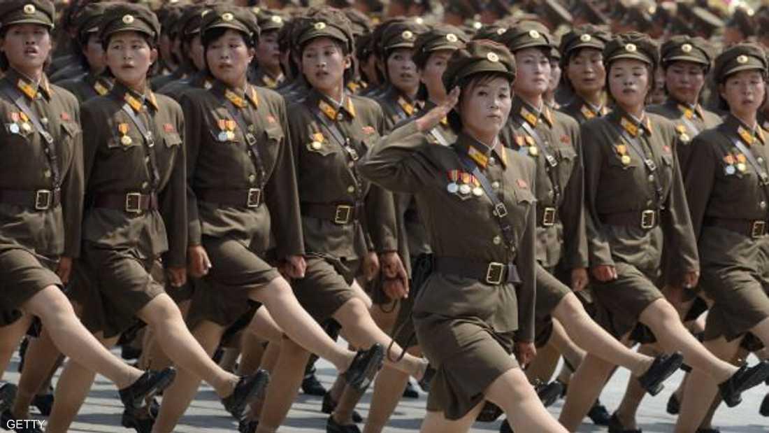 جنديات في جيش كوريا الشمالية