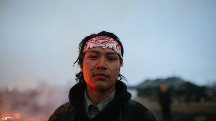 تشانس زافالا، شاب من السكان الأصليين، كان ضمن المعتصمين