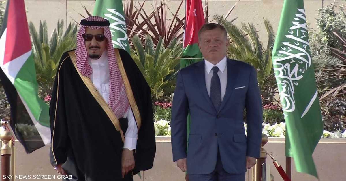العاهل الأردني يستقبل الملك سلمان بن عبد العزيز   أخبار سكاي نيوز عربية