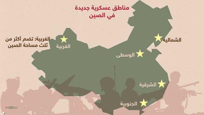 مناطق عسكرية جديدة