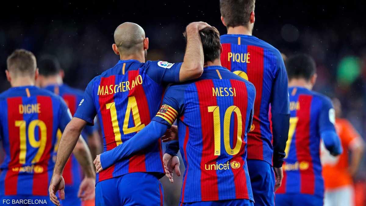 حدث نادر في مباراة برشلونة وأوساسونا