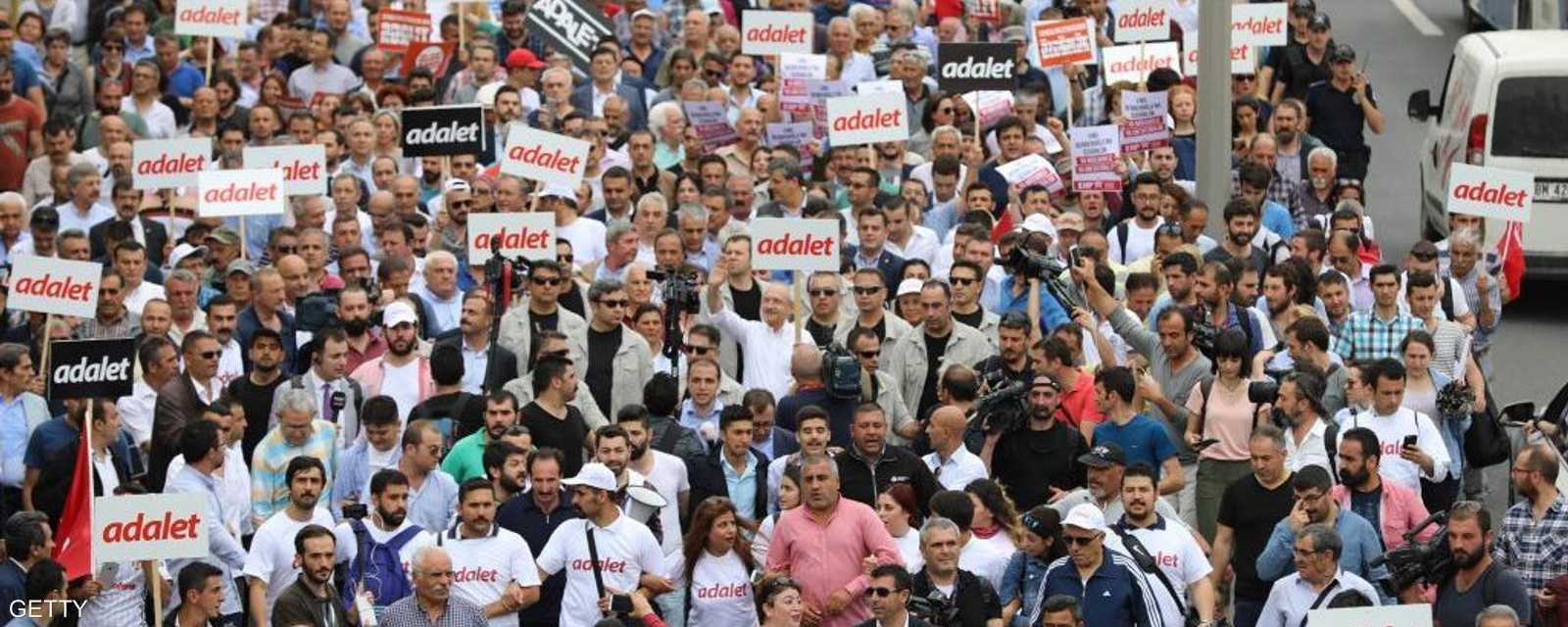 مشهد لحجم المسيرات في أنقرة