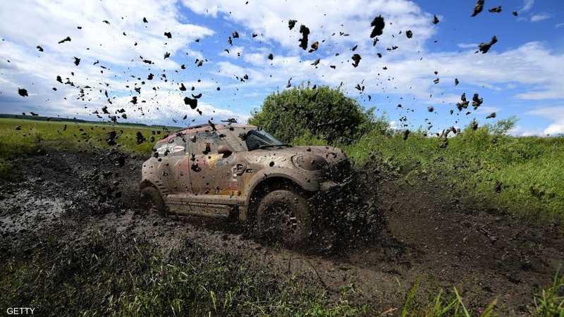 """مرحلة """"طينية"""" من السباق في كازاخستان"""