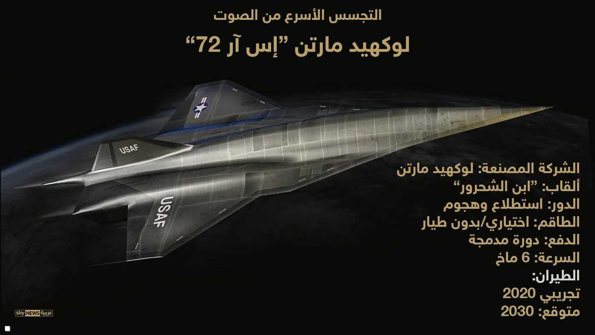 SR-72 : طائره تجسس امريكيه جديده مسيره من تطوير شركة Lockheed Martin  1-969145