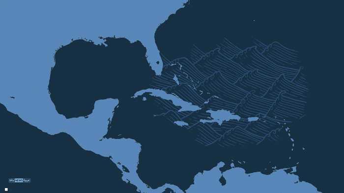 """الإعصار """"إرما"""" وشقيقاه يجتاحون الكاريبي"""