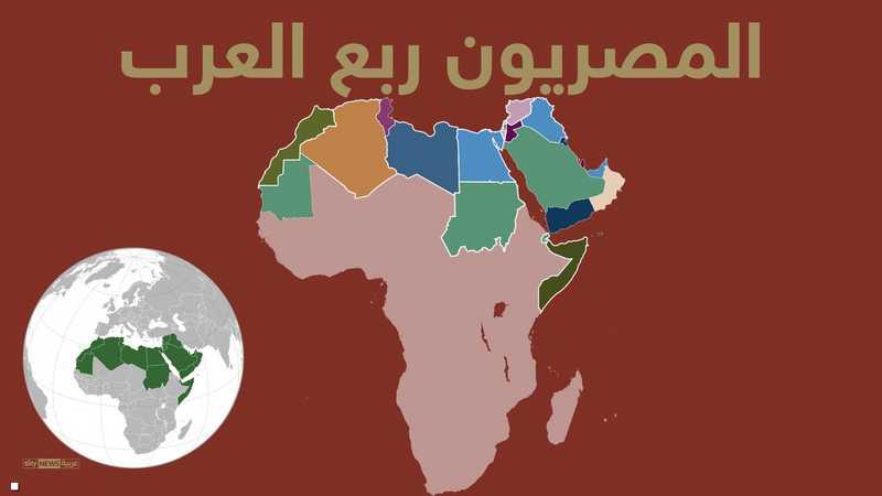 المصريون يشكلون ربع العرب من حيث السكان