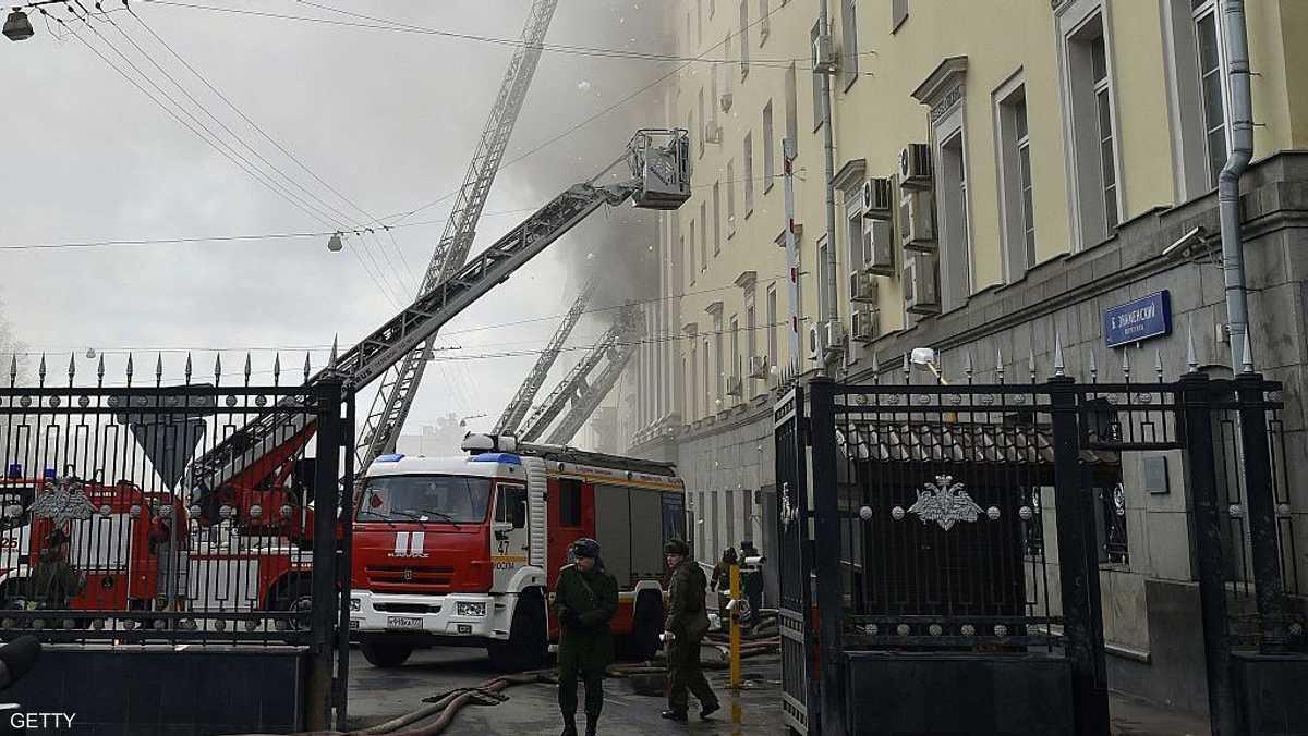 حريق مبنى لوكالة مخابرات روسية