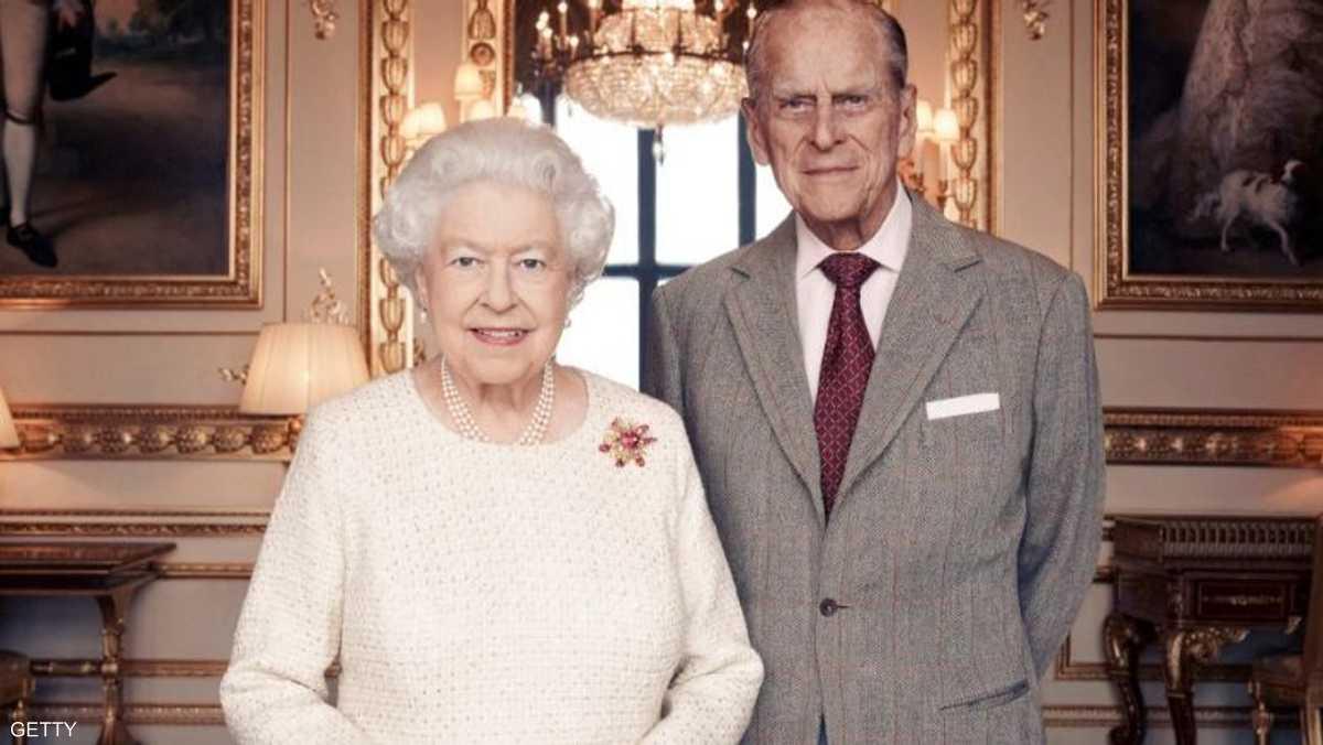 ولقطة الاحتفال الرسمية بالعيد السبعين لزواج مديد