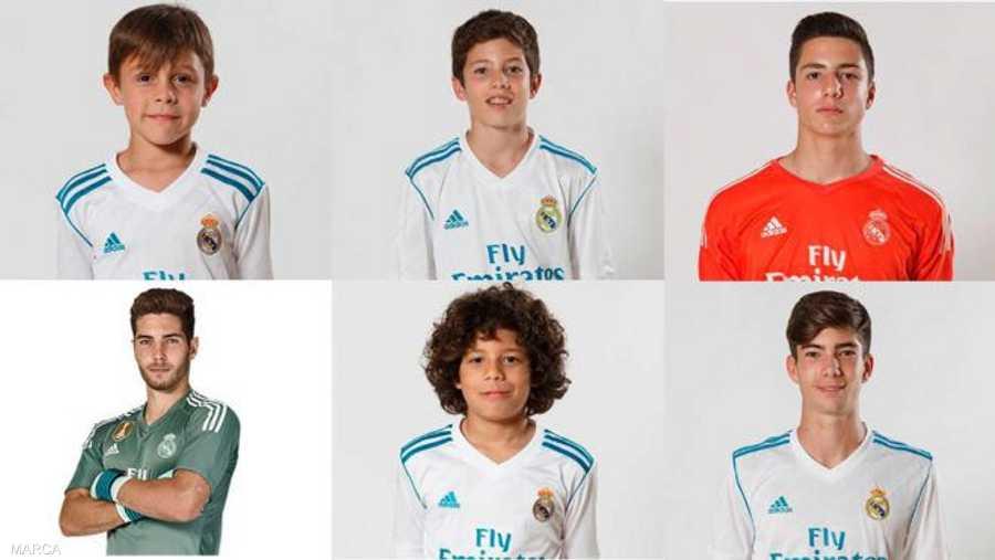 082466f3aae97 بالصور.. أطفال النجوم في أكاديمية ريال مدريد