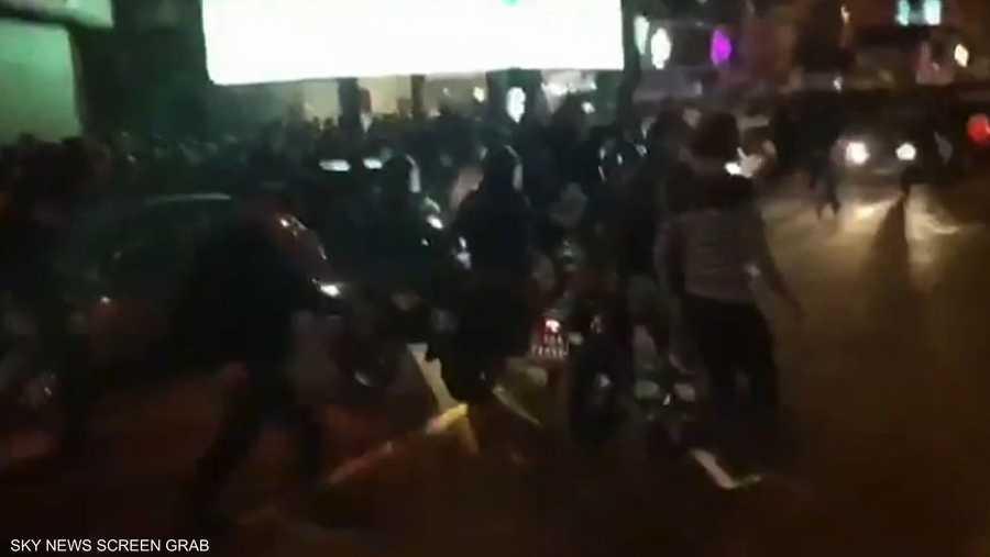 إيران.. اعتداء قوات الباسيج علىت المتظاهرين