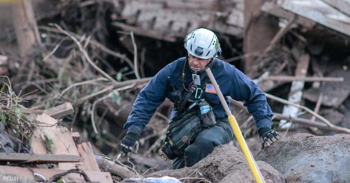 استمرار-البحث-عن-مفقودين-في-انهيارات-طينية-في-كاليفورنيا