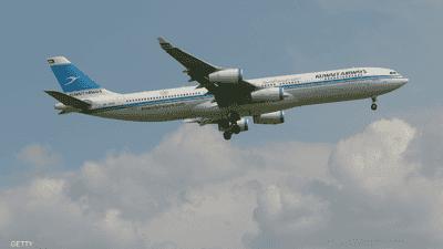 طائرة كويتية تتعرض لحادث في فرنسا والركاب ينزلون بسلام